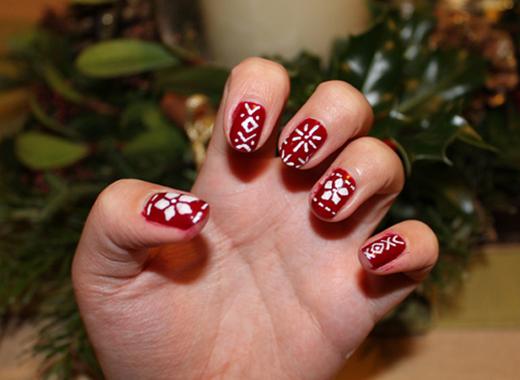Christmas Jumper Nails Sweet Monday