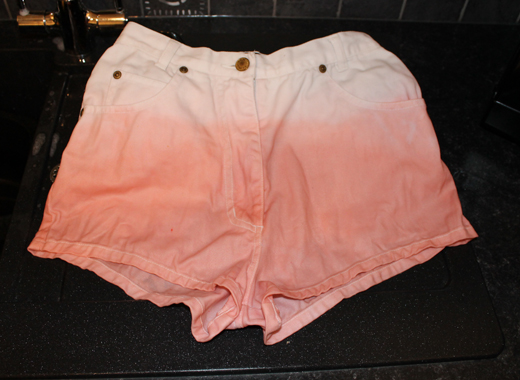 DIY dip dye shorts