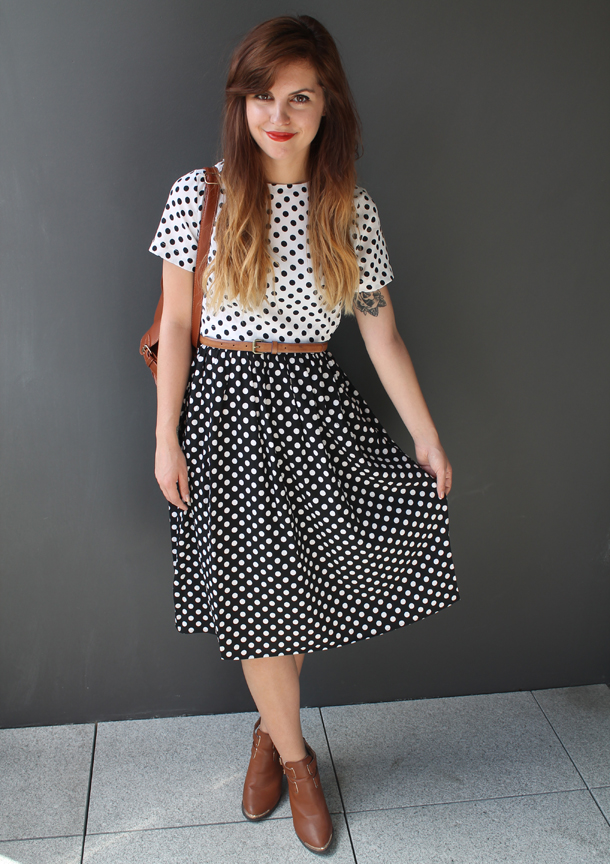 Style Compare, Asos polka dot 2 in 1 dress