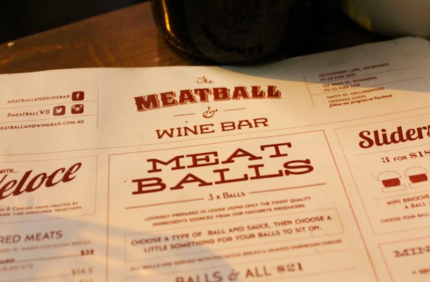 The Meatball and Wine Bar Melbourne