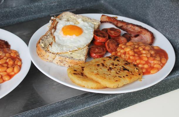 Full English breakfast, The Great Ocean Road