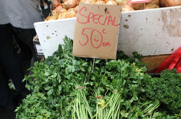Queen Victoria fruit and veg market