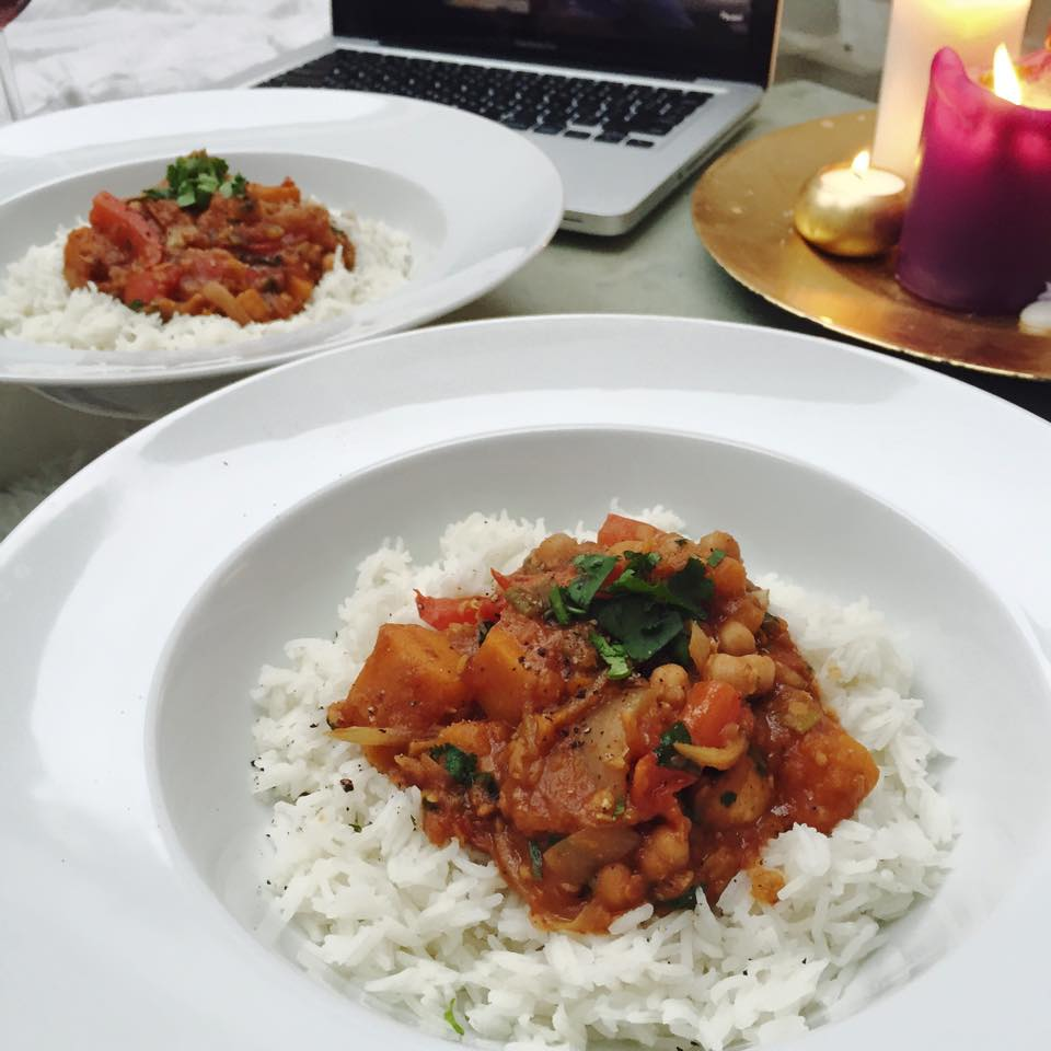 Sweet Monday, Vegetarian curry, Vegan curry, Butternut squash, Chickpea, Lentil curry