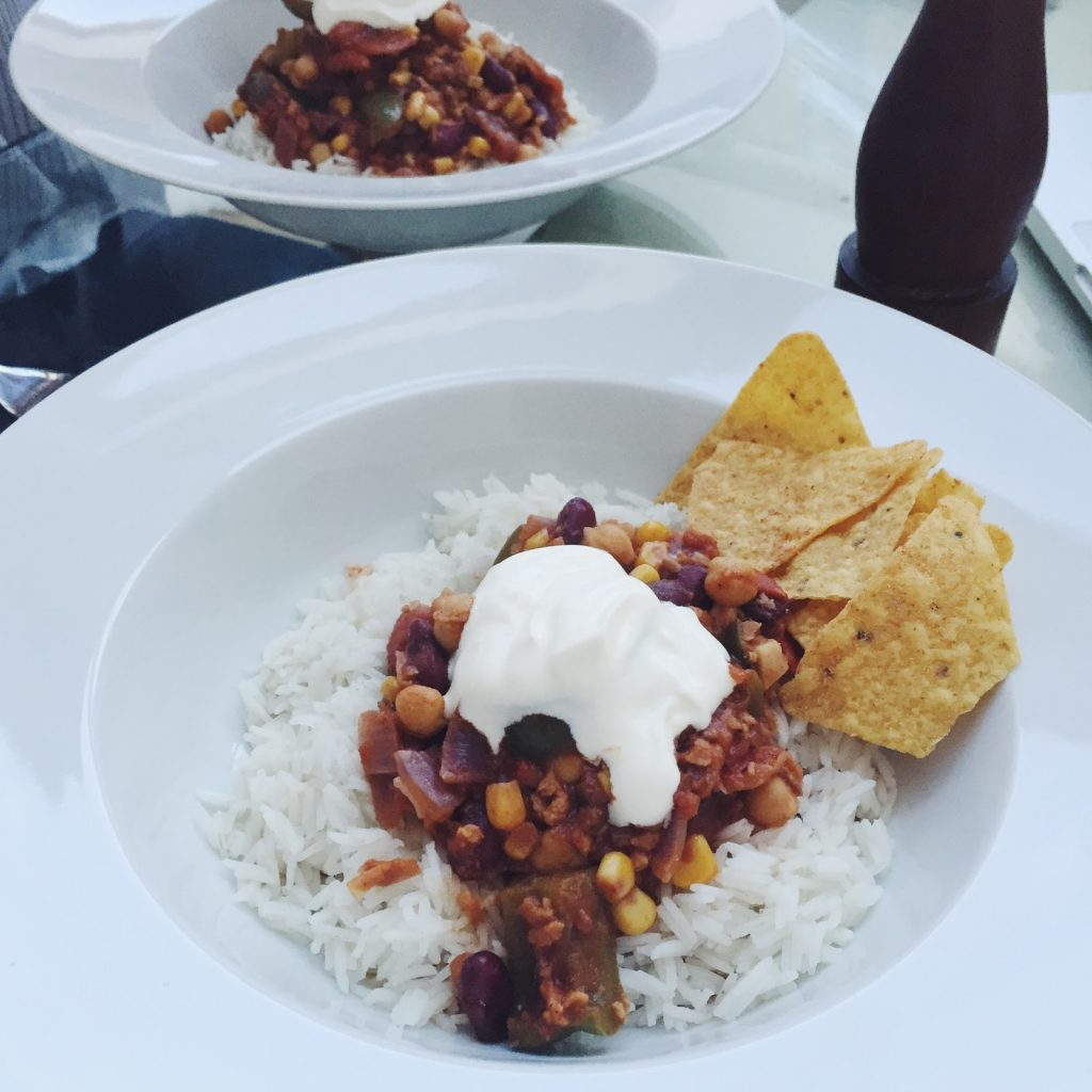 Sweet Monday, Recipes, Soy chilli, Chilli con carne, Vegetarian chilli