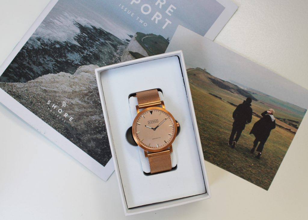 Shore Projects, Project 2, Salcombe, Rose gold mesh watch