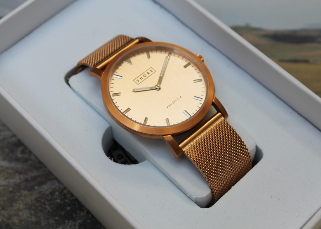 Shore Projects, Project 2, Salcombe, Rose gold watch