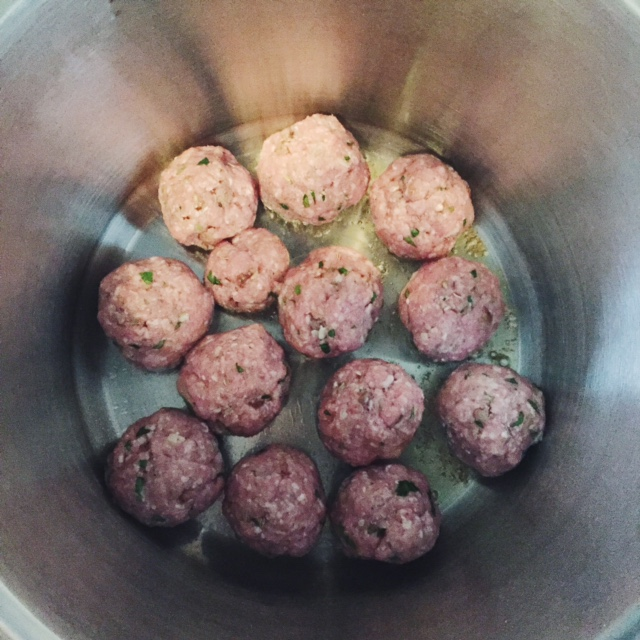 Sweet Monday, homemade tomato and basil meatballs