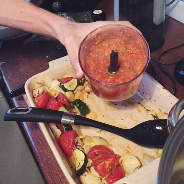 Sweet Monday, homemade tomato and basil meatballs, creamy polenta recipe