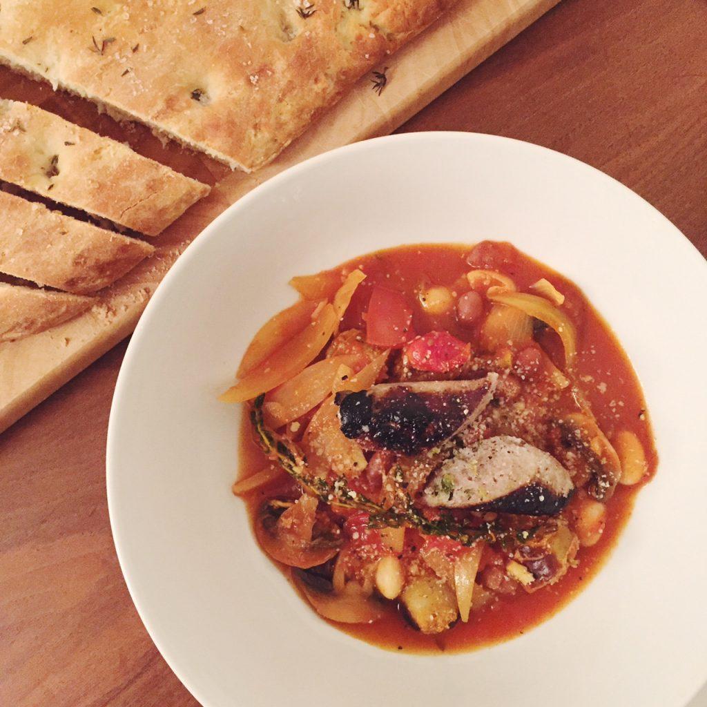sausage and bean cassoulet