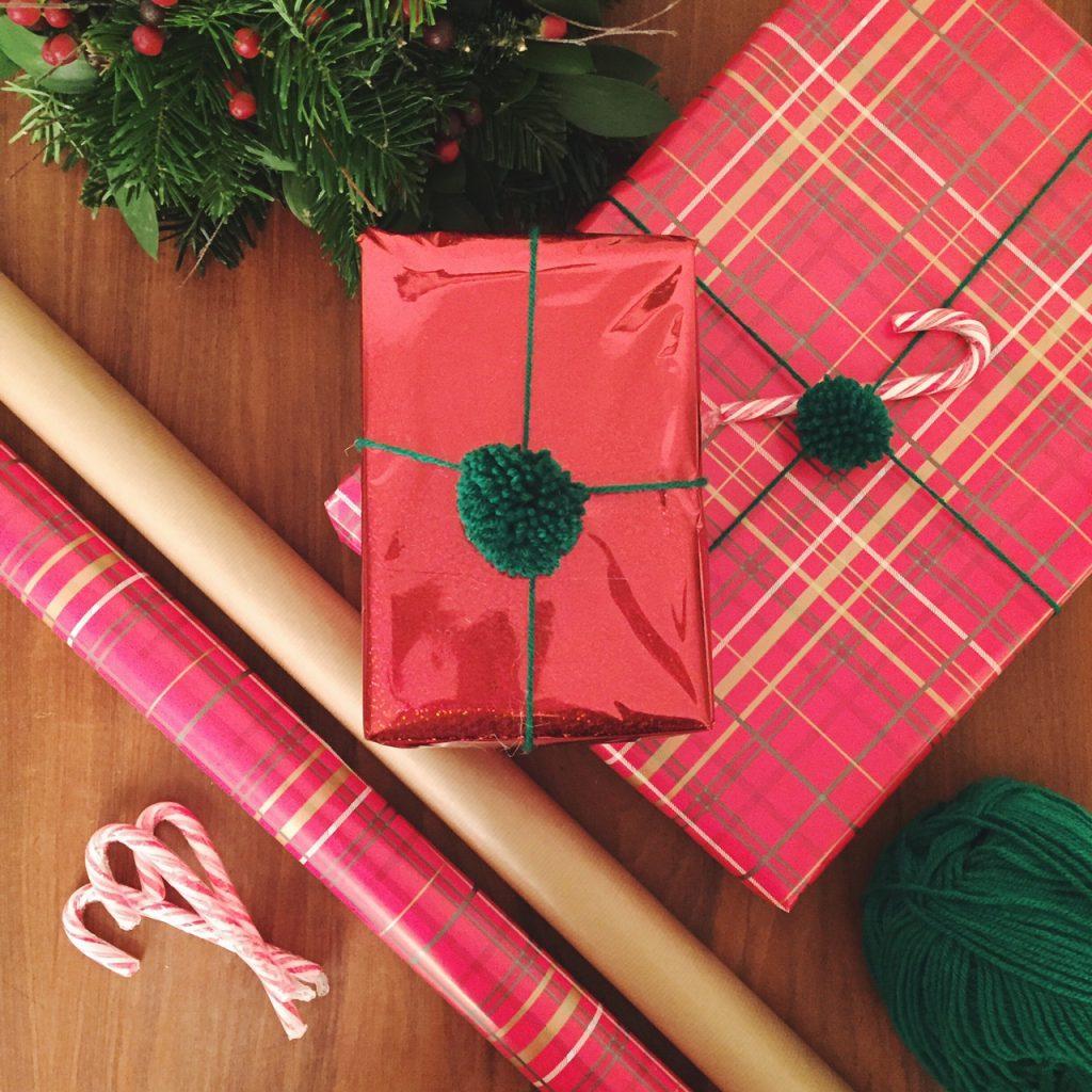 Handmade Christmas wrapping paper
