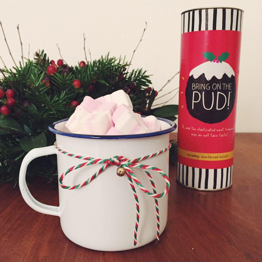Christmas customised enamel mugs
