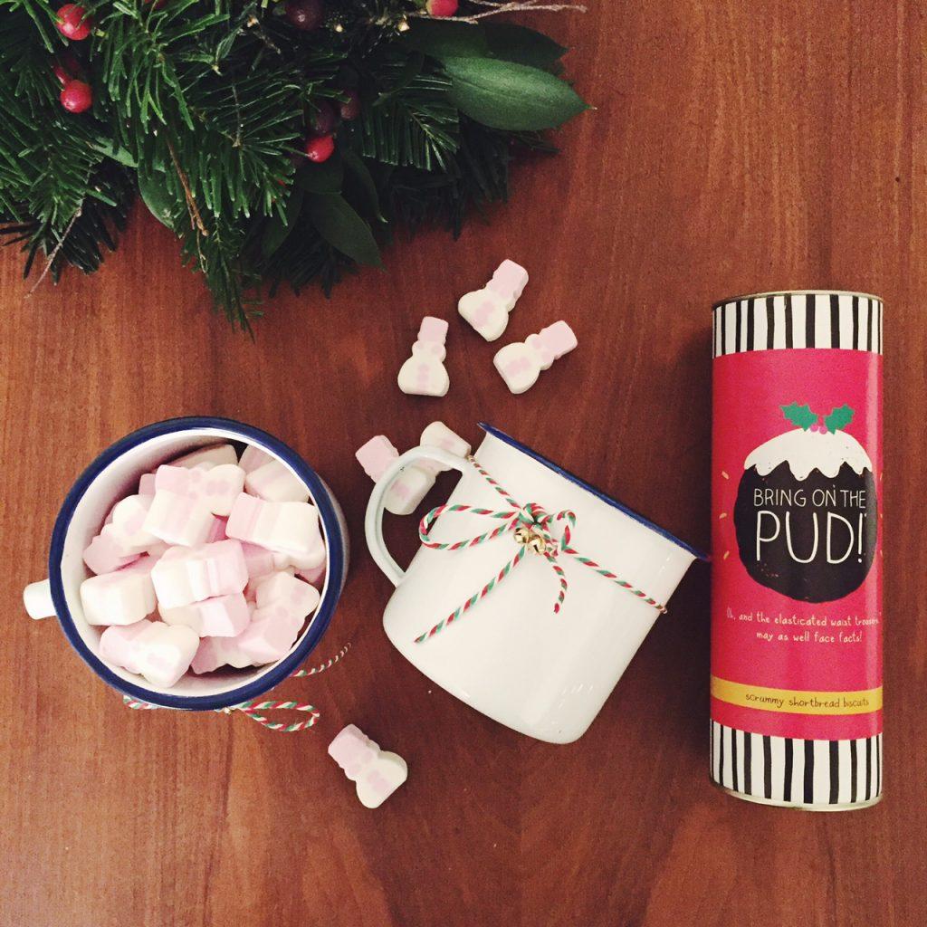Christmas enamel mugs
