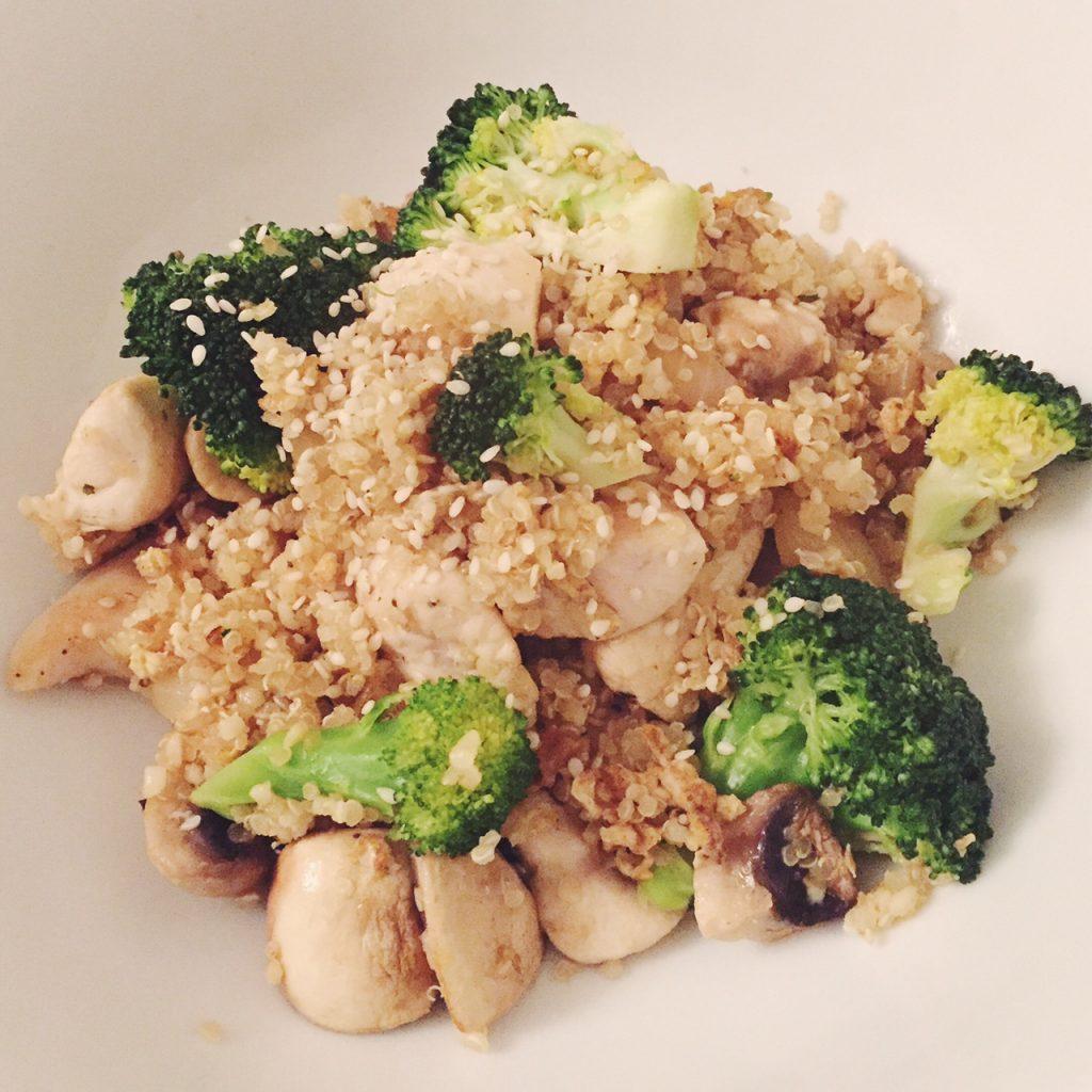 Quinoa, chicken and broccoli