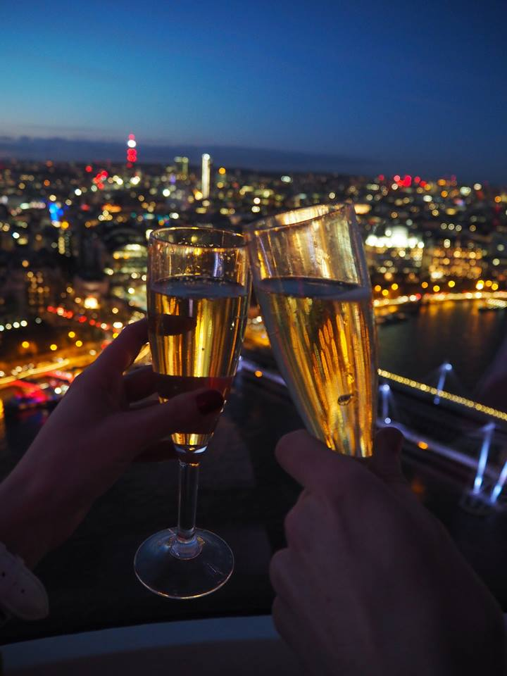 Champagne experience on the London Eye
