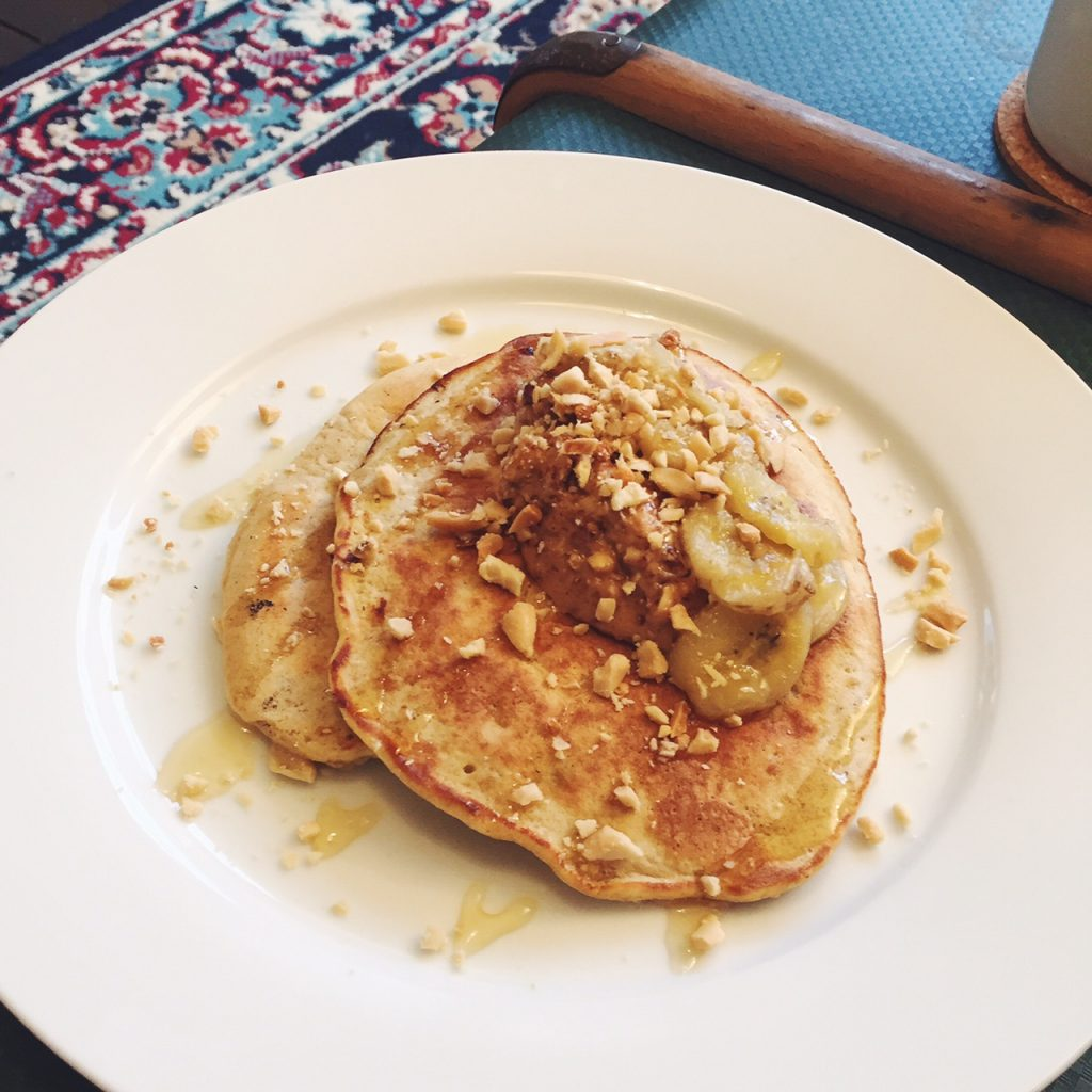 Banana and peanut butter pancake recipe