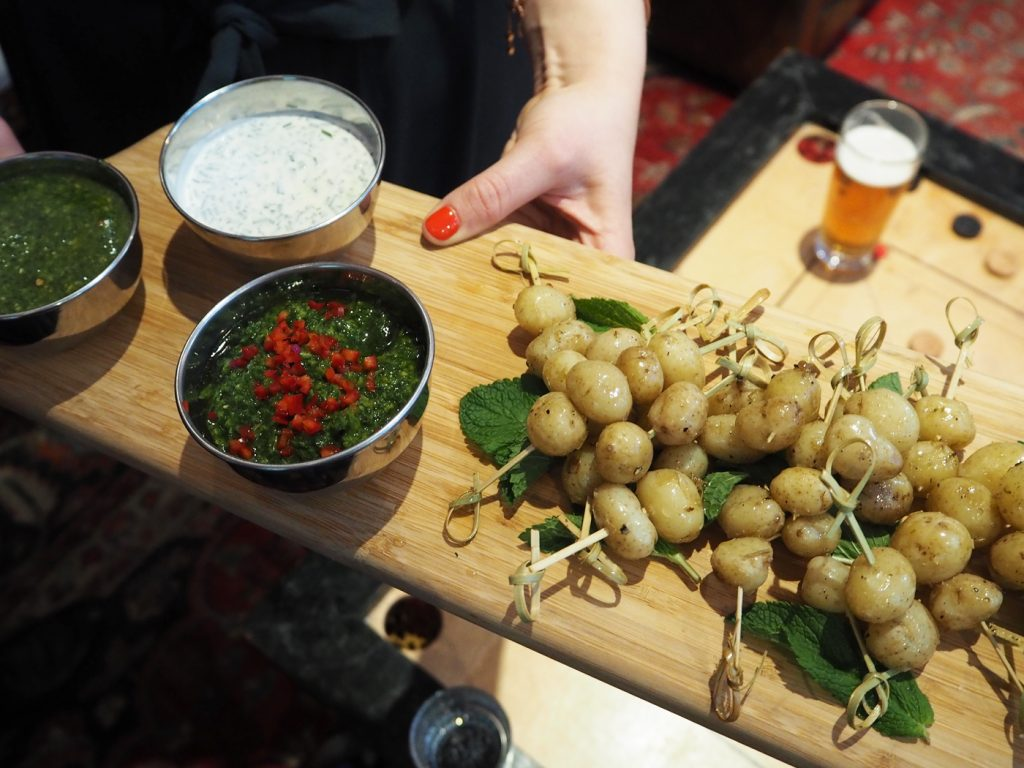 Dinner with Jersey Royals