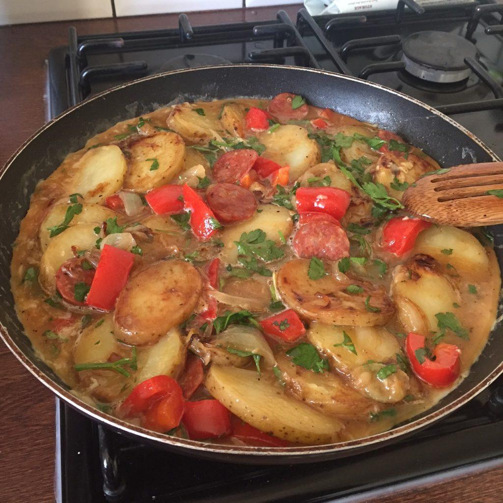 Homemade Spanish omelette recipe