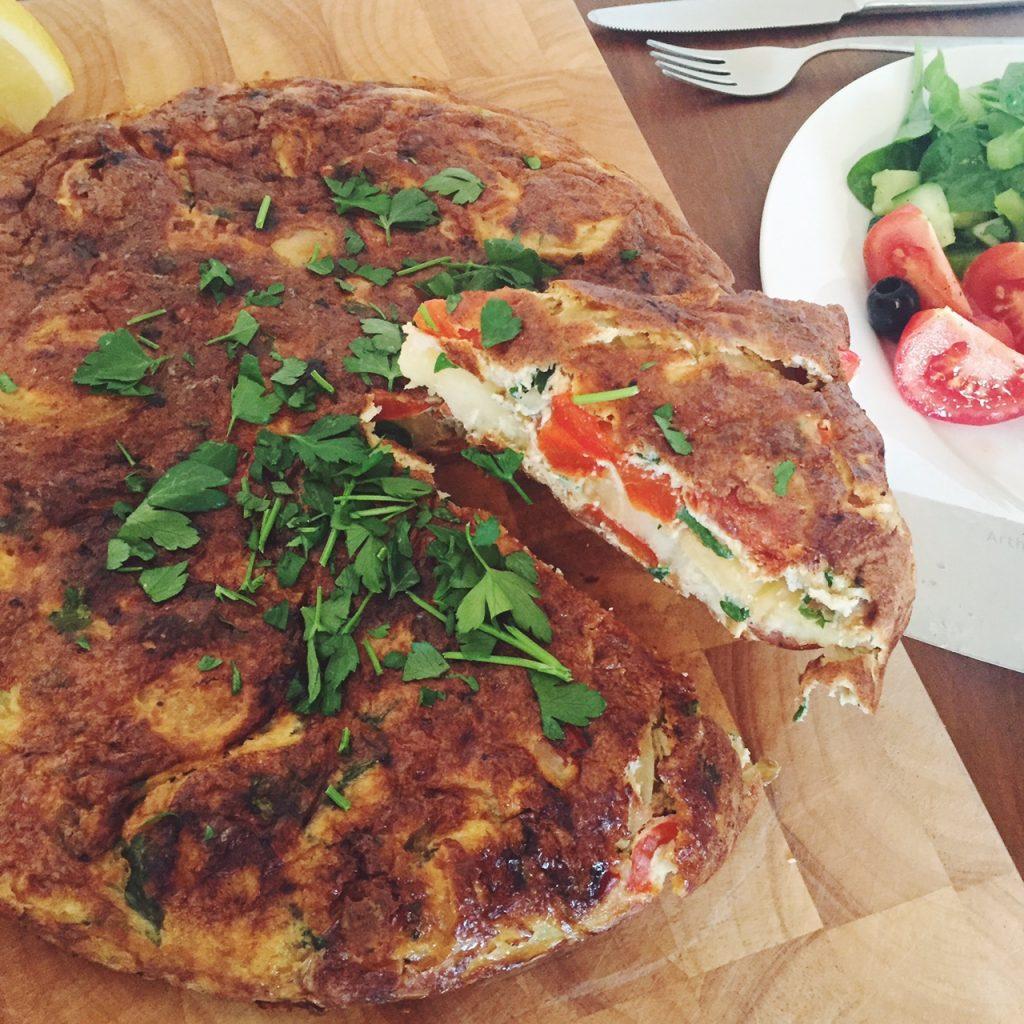 Chorizo Spanish omelette recipe