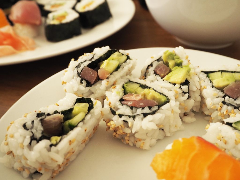 Home made sushi rolls