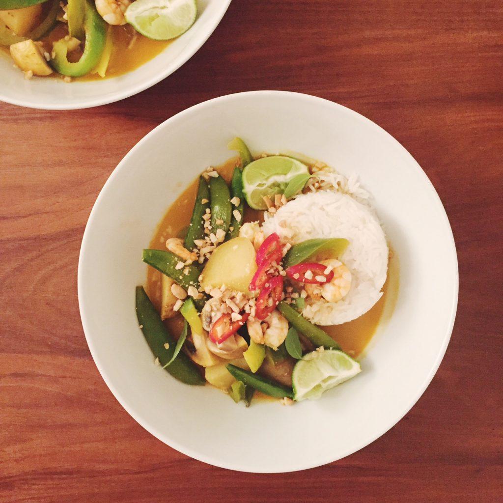 Thai prawn curry