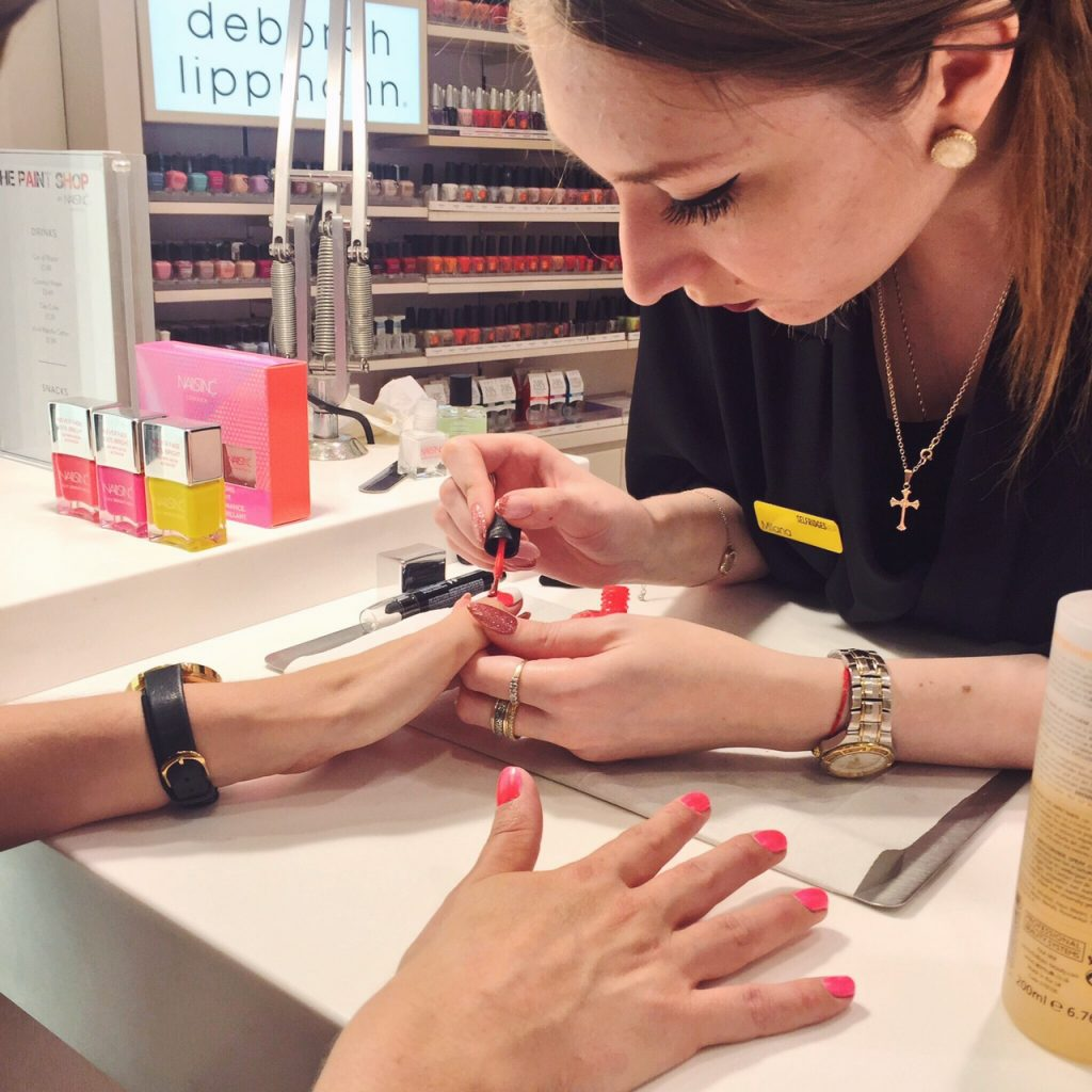 Nails Inc manicure Selfridges