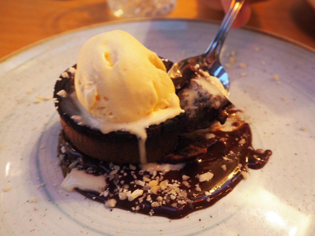 The Artisan Bistro, mint chocolate soufflé