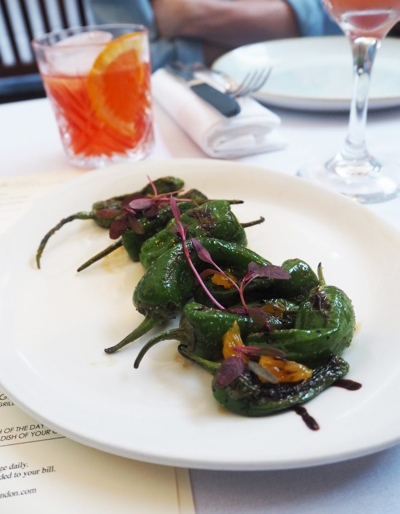 The Artisan Bistro, Padron peppers