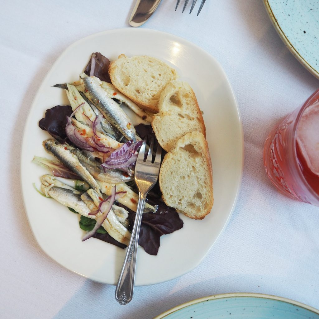 The Artisan Bistro, Anchovies