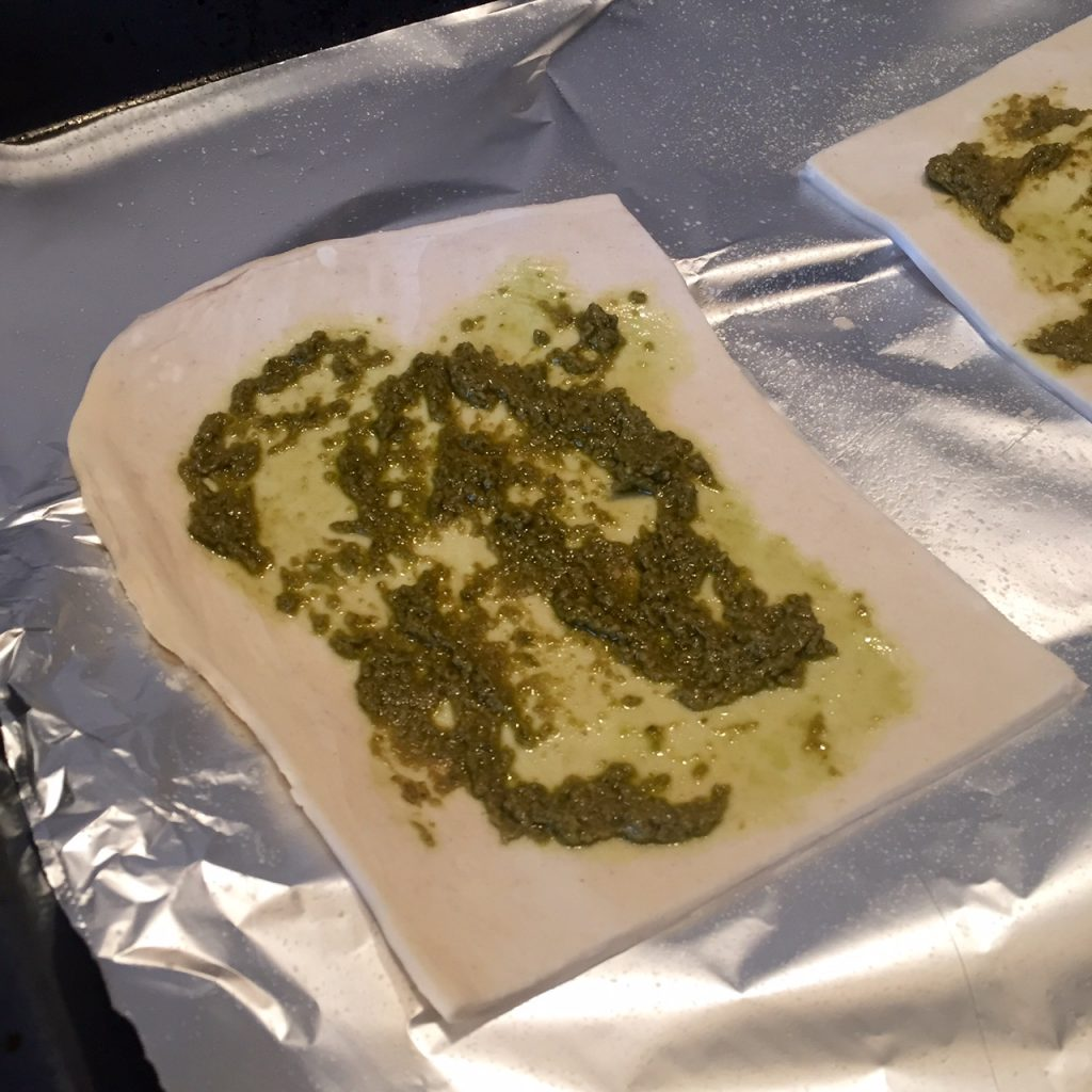 puff pastry and pesto