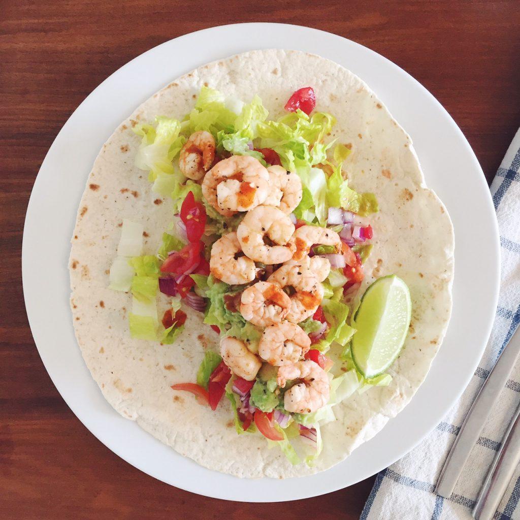 Spicy prawn taco recipe