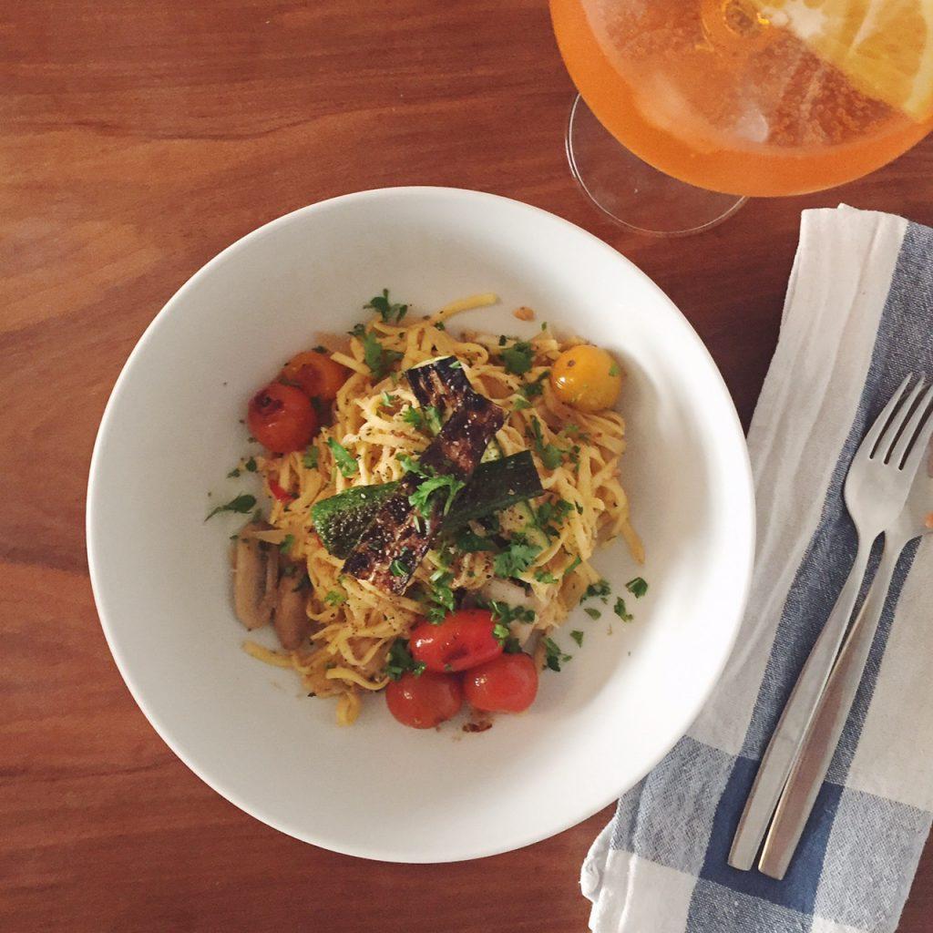 Crab linguine recipe