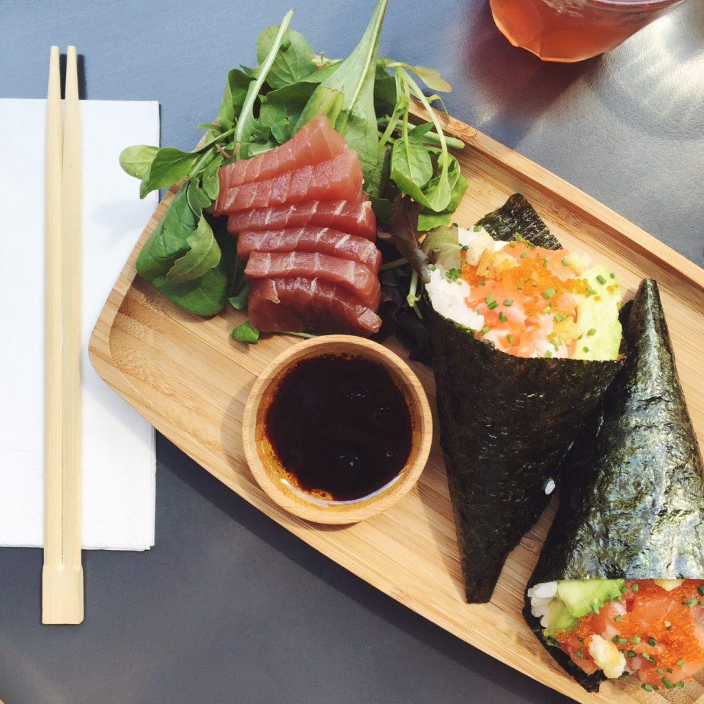 Temaki, sashimi and maki in Soho London