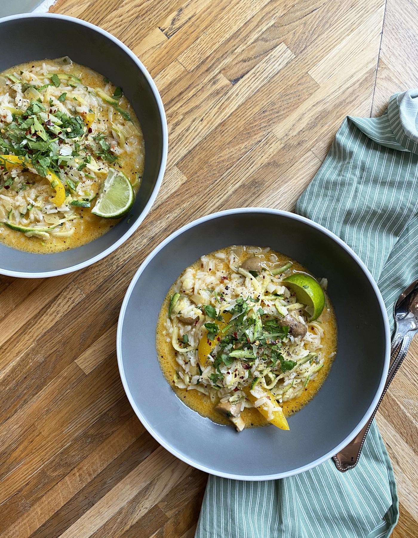 Thai Coconut Courgetti Soup Recipe