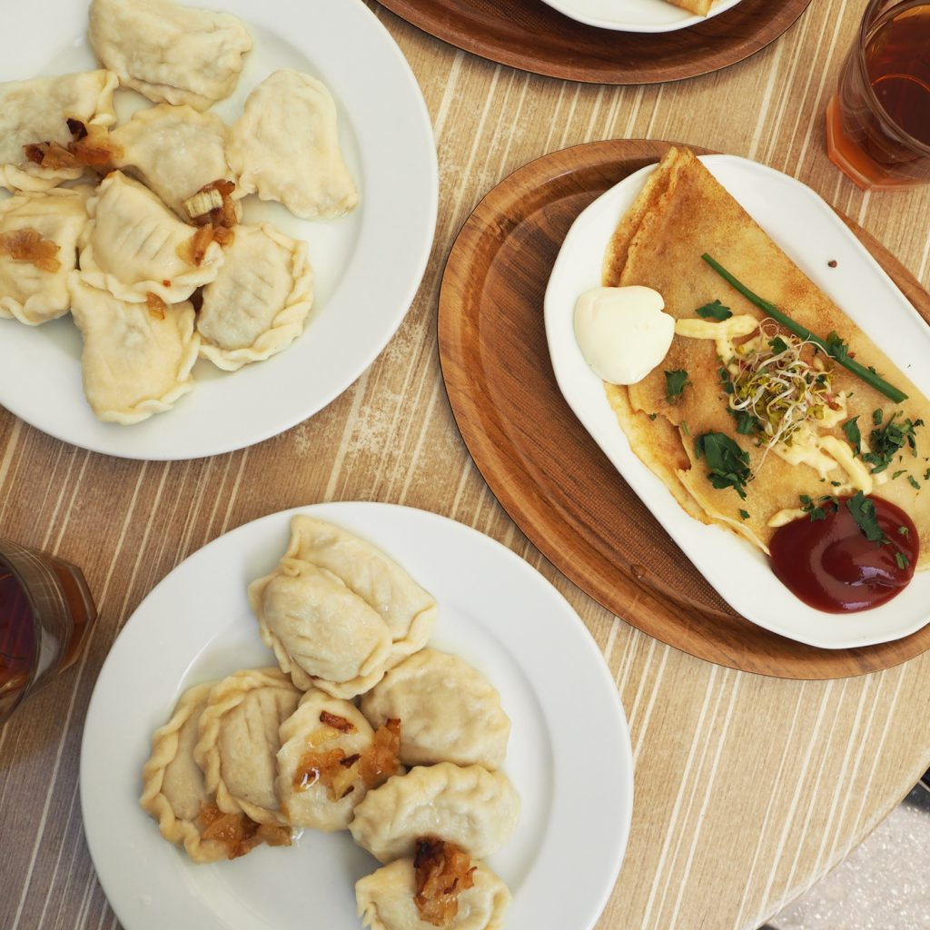 Polish dumplings and Polish pancakes