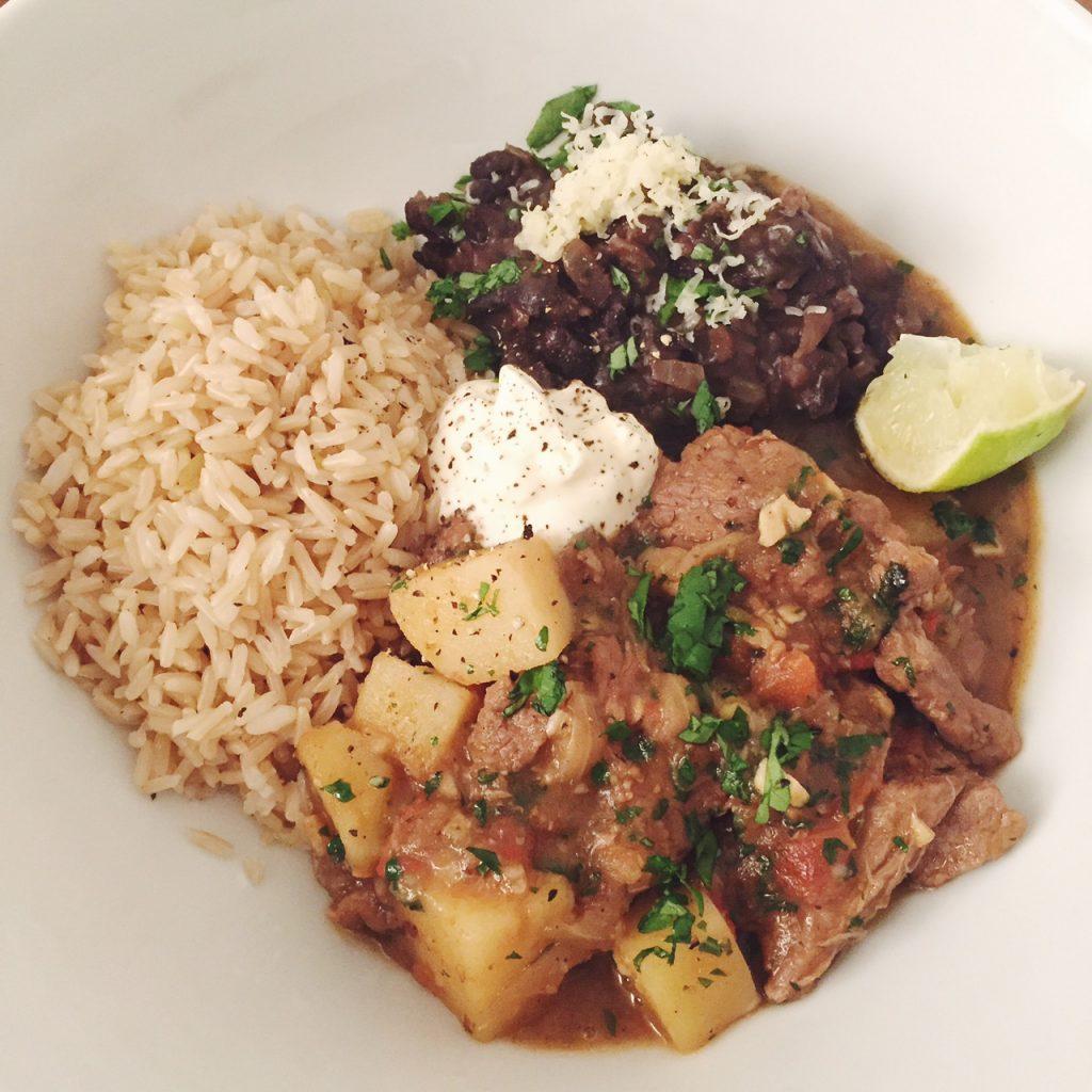 Peruvian lamb and potato recipe