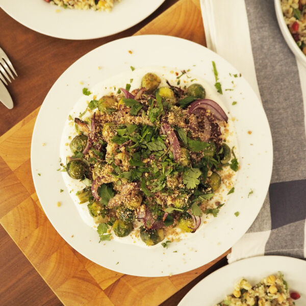 Middle Eastern roast sprouts