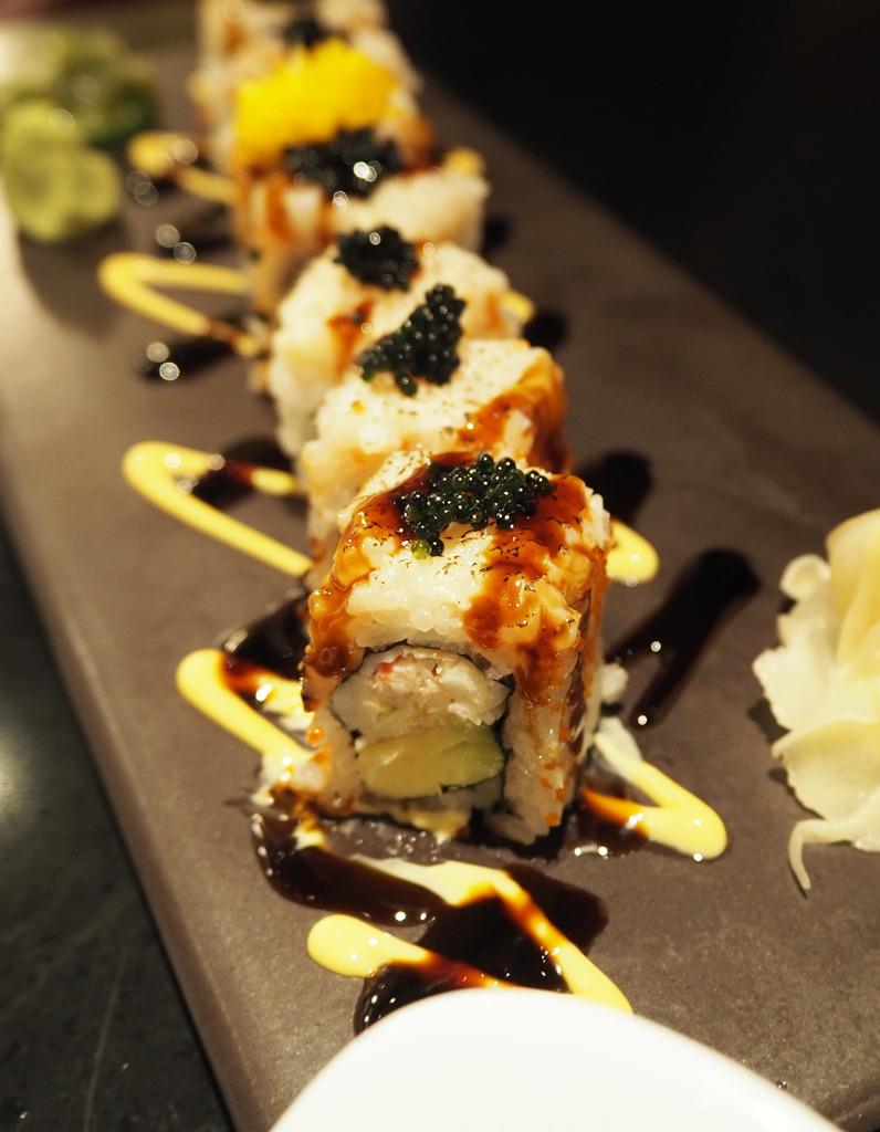 Chai Wu Harrods Special sushi rolls