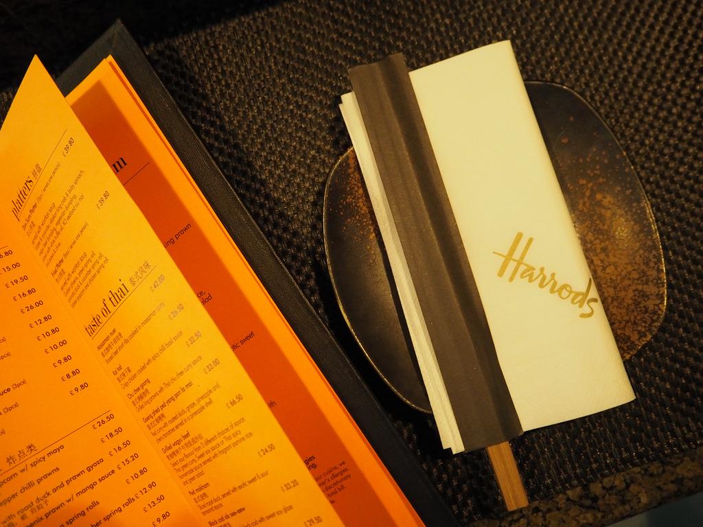 Mango Tree Harrods menu