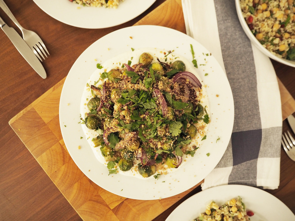 Middle Eastern roasted sprouts