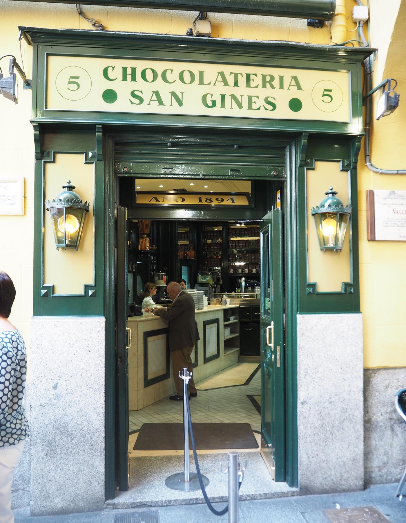 San Gines chocolatier Madrid