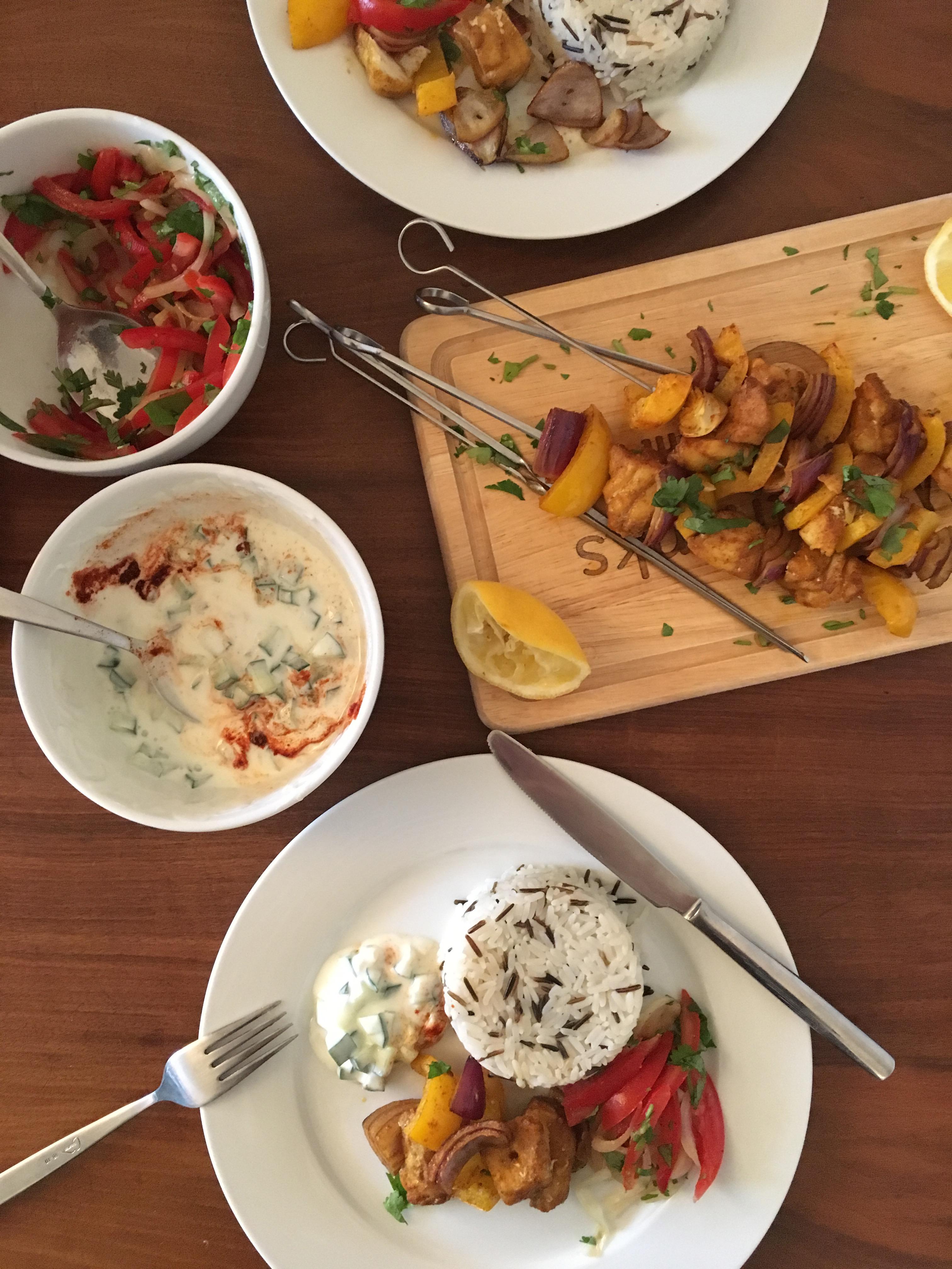 Tandoor cod kebabs