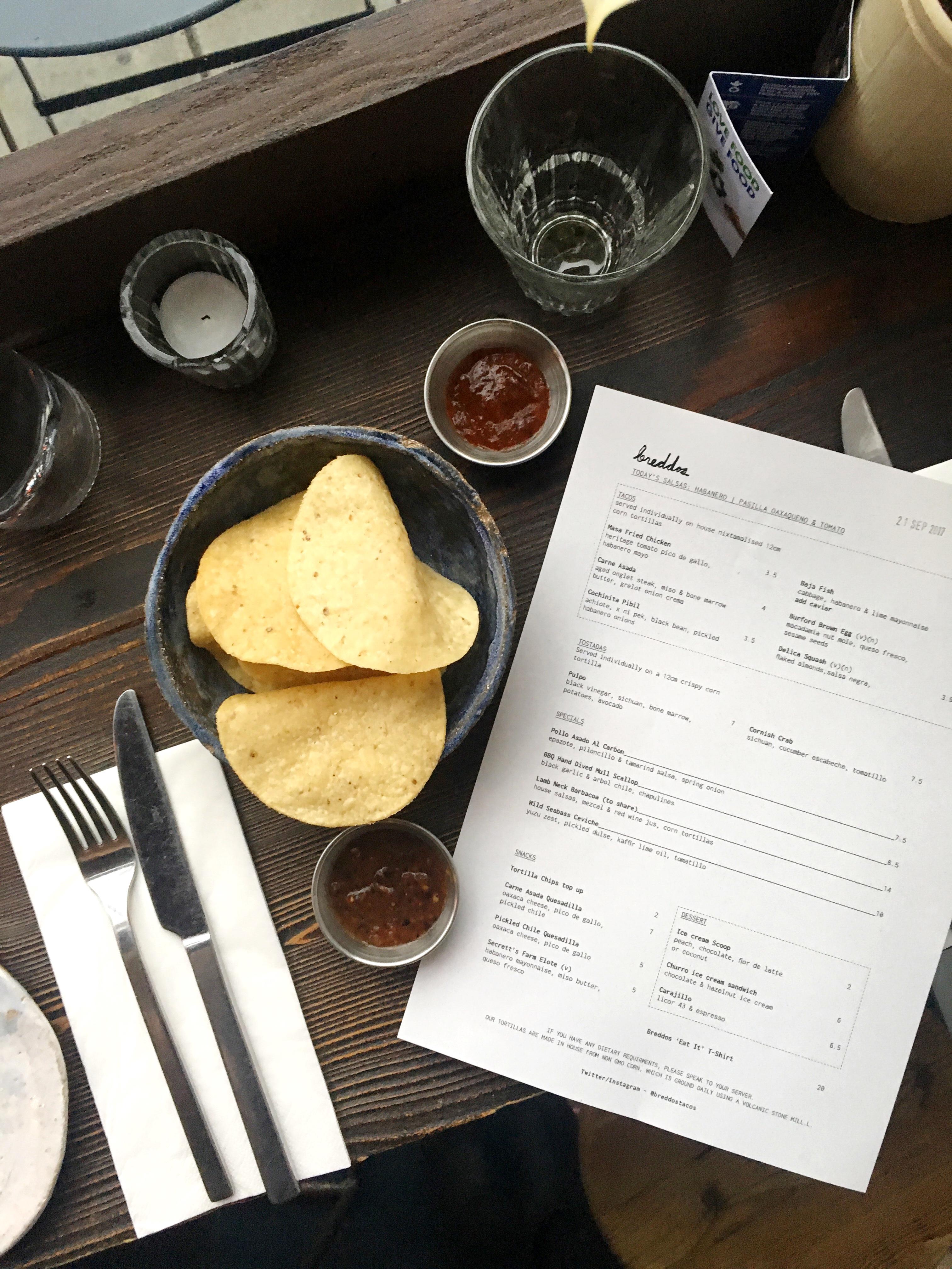 Breddos Tacos menu