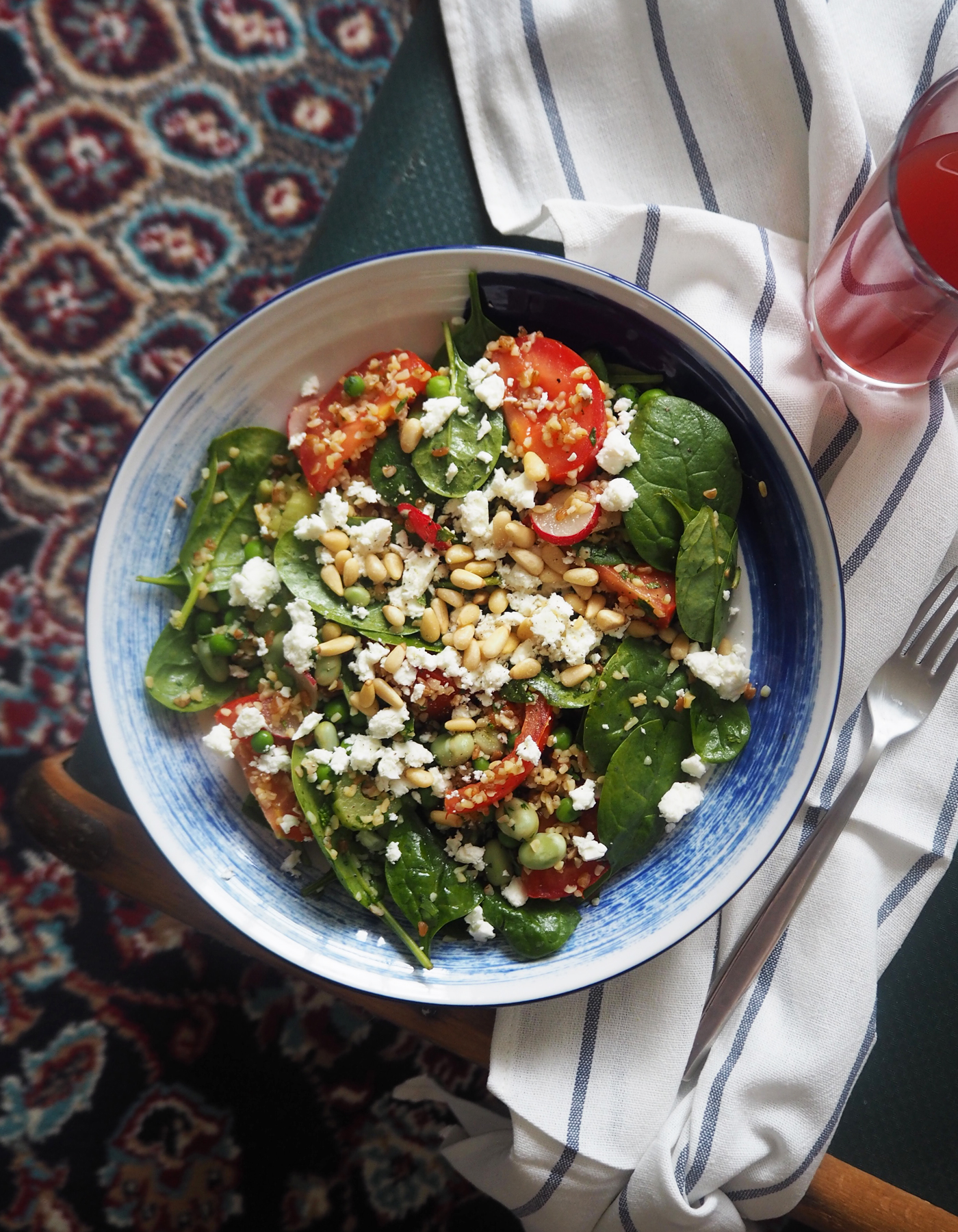 Pea, feta & quinoa salad