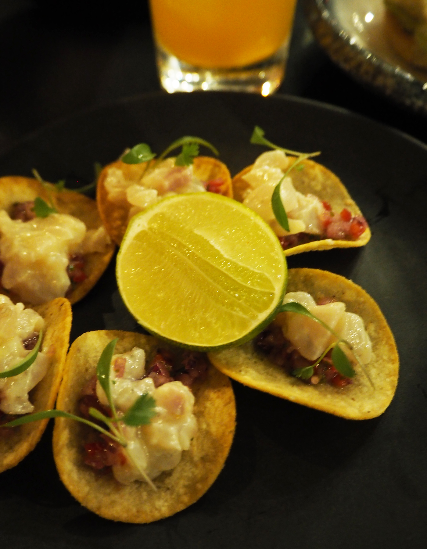 Sea Containers ceviche tacos