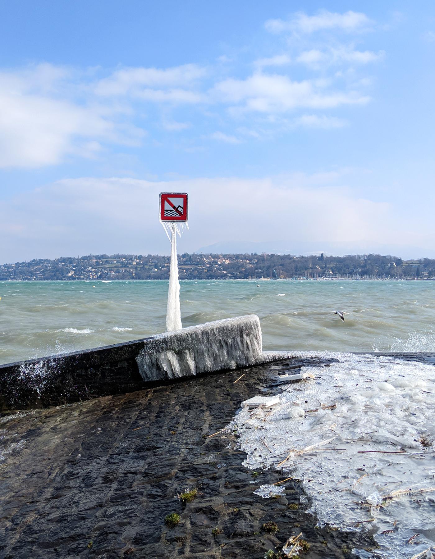 Lake Geneva ice