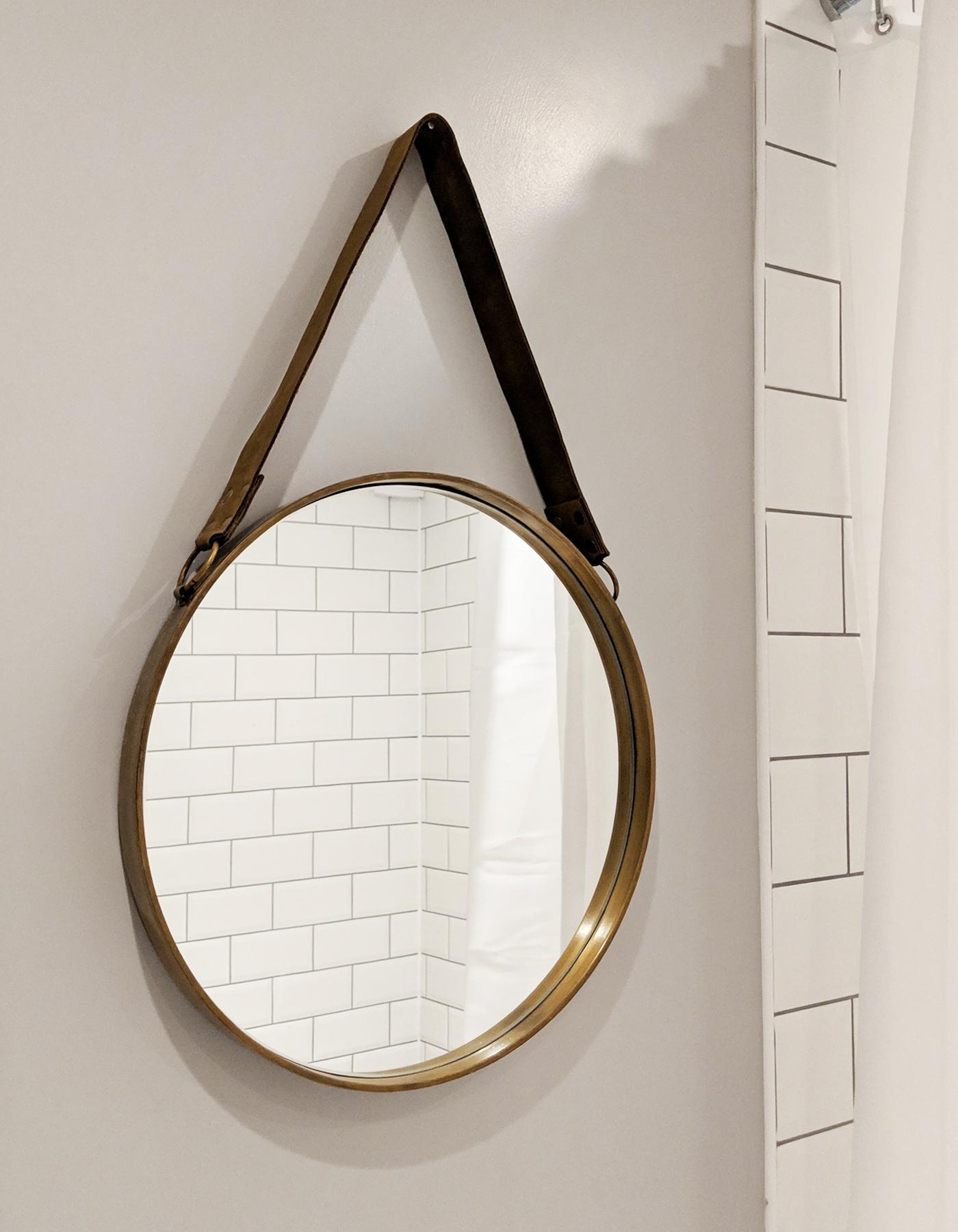 John Lewis brass mirror