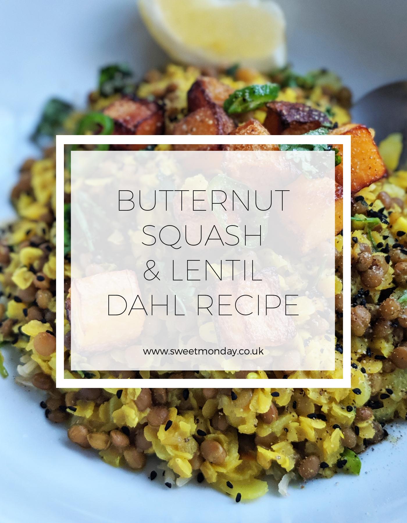 Butternut Squash & Lentil Dahl Recipe