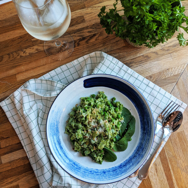 Pea & Spinach Risotto