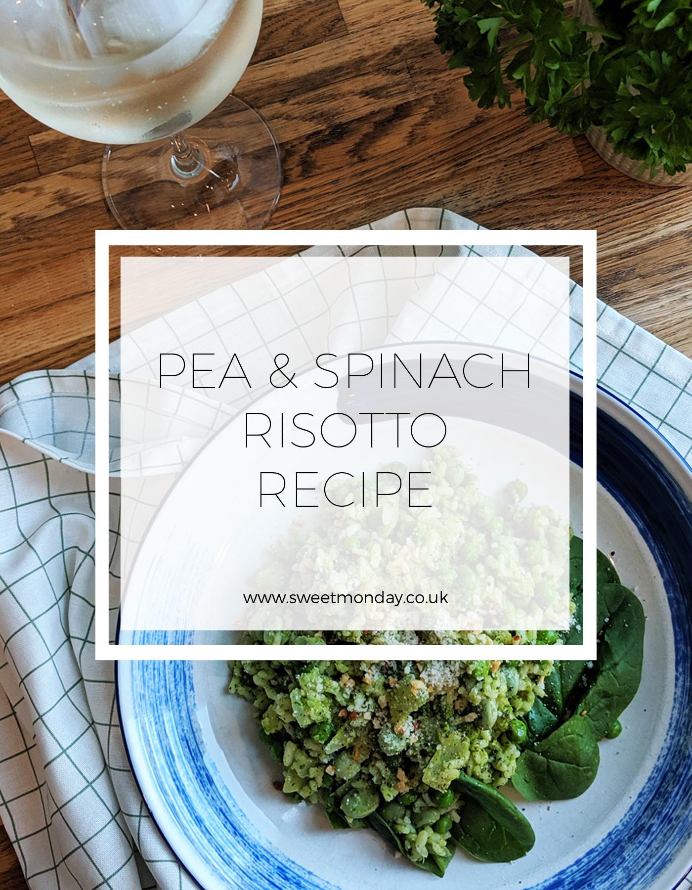Pea & Spinach Risotto Recipe