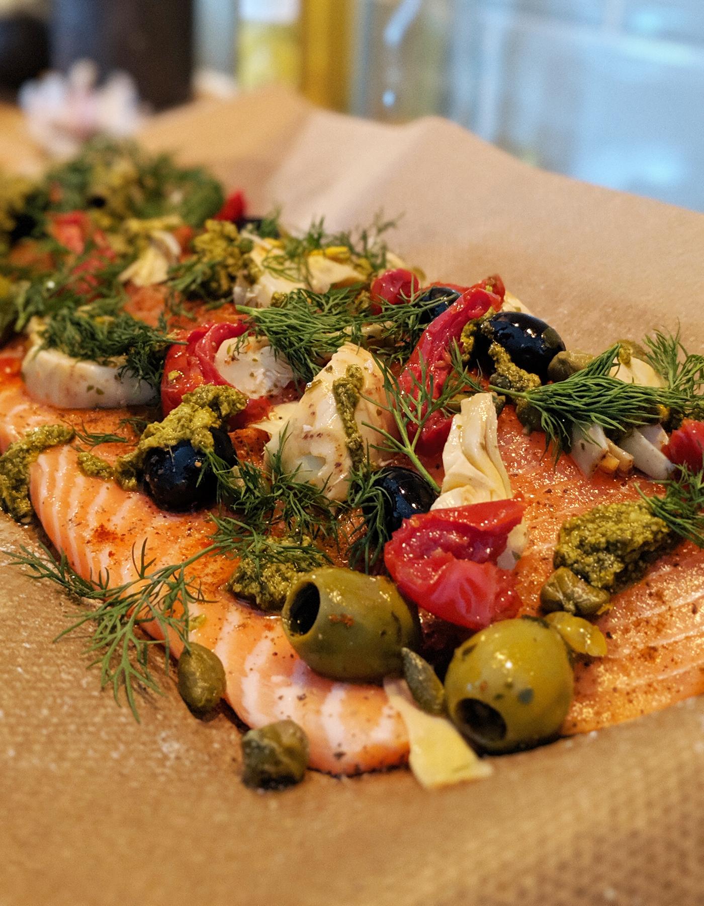 Mediterranean Baked Salmon Recipe